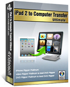 <p> 	4Videosoft iPad 2 to Computer Transfer can transfer all of your iPad 2 files, including songs, videos, photos, playlists, TV shows, podcast, iTunes U, ePub, PDF, audio books, camera roll, picture, voice memos, camera shot, etc, to computer or iTunes.</p>