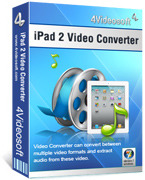<p> 	4Videosoft iPad 2 Video Converter can assist you to convert a wide range of videos and audios for watching or listening on your iPad 2, as well as on iPod, iPhone and many other media players. It provides you more editing functions.</p>