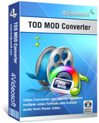 <p>4Videosoft Tod Mod Converter ist das professionelle Werkzeug konvertieren Mod, Tod und MPEG video in andere populäre Video- und audio-Formate wie MP4, MP4 AVC, WMV, AVI, FLV, 3GP, MP3, MP2, M4A, WMA, WAV, OGG.</p>