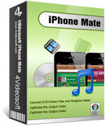 <p> 	4Videosoft iPhone Mate can create amazing videos/audios for iPhone from DVDs and all kinds of videos/audios quickly and precisely. Easily make M4R iPhone ringtone from any video/audio sources. And it can transfer between iPhone video/audios and PC.</p>
