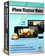 <p> 	4Videosoft iPhone Ringtone Maker can help iPhone users to convert MP3 to iPhone/iPhone OS 3.0/3.1 Ringtone, even convert any video/audio to iPhone M4R Ringtone, including 3GP, AVI, MKV, RM, MOV, XviD, MPEG, WMV, DivX, MP4, etc to M4R iPhone ringtone.</p>