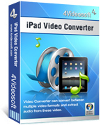 <p> 	4Videosoft iPad Video Converter can give you a great hand on converting video files to your iPad. With this video to iPad Converter, you can convert a wide range of videos & audios for watching or listening on your iPad, as well as on iPod, iPhone.</p>
