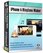 <p> 4Videosoft iPhone 4 Ringtone Maker está disponible para los usuarios convertir MP3 a iPhone 4, iPhone OS 3.0/3.1 tono, incluso convertir cualquier vídeo / audio a tono M4R iPhone 4, incluyendo 3GP, AVI, MKV, RM, MOV, XviD, M4A, MP3 a M4R ringtone iPhone 4. </p>