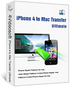 <p> 	4Videosoft iPhone 4 to Mac Transfer can copy and backup and sync all your music/movie/photo/ringtone on iPhone 4/iPod to Mac fast/smoothly. It fully supports iPhone, iPhone 3G, iPhone 3GS, iPad, iPad 2, iPnone 4, iOS 4.3 and all the iPod versions.</p>