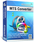 <p> 	4Videosoft MTS Converter can convert MTS to AVI, MTS to MP4, MTS to VOB, MTS to iPod/iPhone and others. What's more, it accepts TS, M2TS, MOD, TOD, WMV, FLV, AVI, MP4, 3GP, RM and so on as the inputting formats.</p>