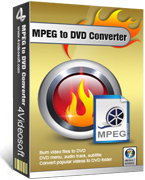 4Videosoft MPEG to DVD Converter Screen shot