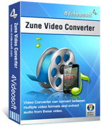 <p> 	4Videosoft Zune Video Converter is the best Zune MP4 MP3 converter. It can convert all the mainstream formats to MP4, H.264/MPEG-4 AVC(.mp4), WMV, MP3, AAC, M4A, WMA for Zune, Zune 2. Now 6X faster conversion speed with NVIDIA® CUDA™.</p>