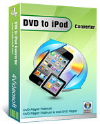 <p> 	Convert DVD to iPod, DVD to iPod touch, iPod nano, iPod classic, etc.</p>