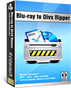 <p> 	4Videosoft Blu-ray to DivX Ripper is specially designed for users who would like to rip Blu-ray DVD movies to DivX format. This professional Blu-ray Ripper to DivX is mainly used for converting Blu-ray DVD and disc to DivX.</p>