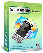 <p>4VideoSoft DVD to Mobile Converter es un multifuncional DVD to Mobile Converter.</p>