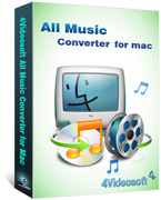 <p> 	4Videosoft All Music Converter for Mac can convert between all music formats including AAC, AC3, AIFF, AMR, AU, FLAC, MP3, M4A, MP2, OGG, WAV, WMA. More importantly, it can extract audio from video formats and convert to audio.</p>