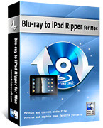 <p> 	4Videosoft Blu-ray to iPad Ripper for Mac is the best Mac Blu-ray to iPad Ripper for Mac users to rip Blu-ray to iPad on Mac. With it, you can easily convert any Blu-ray disc and DVD/video file to iPad supported video and audio format on Mac.</p>