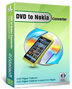 <p> 	4Videosoft DVD to Nokia Converter is one impressive DVD to Nokia Converter for Nokia users. It covers the function to convert DVD movie to Nokia MP4, along with the function to extract DVD movie to Nokia MP3, AAC, WAV, etc.</p>