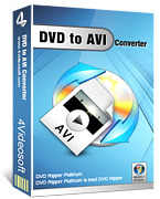 <p> 	4Videosoft DVD to AVI Converter can convert DVD to AVI, H.264 AVI(.avi), DivX(.avi), XviD(.avi), HD AVI for Creative Zen, BlackBerry in different resolution, even to other devices which supporting AVI format, like PSP, PS3, Wii, Xbox, etc.</p>