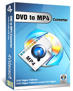 <p> 	4Videosoft DVD to MP4 Converter is one swoonsome and powerful DVD Converter to MP4, or DVD to MP4 Ripper software, which helps you to convert DVD to MP4, including DVD to iPod MP4, DVD to iPhone MP4, DVD to PSP MP4, etc.</p>