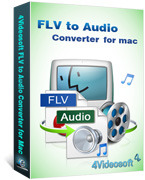 <p> 	4Videosoft FLV to Audio Converter for Mac is the professional Mac FLV to Audio Converter to extract audio from SWF, WMV, ASF, 3GP, 3G2, FLV, and convert to any audio formats MP3, AAC, AC3, AIFF, AMR, with outstanding conversion speed and quality.</p>