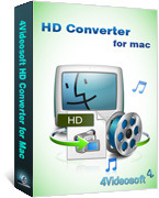 <p> 	4Videosoft HD Converter for Mac can easily convert HD videos on Mac and convert common video files to HD on mac. It also can convert any HD videos, like HD TS, HD MTS, HD MOV, HD MP4, HD MPG, etc. with excellent quality.</p>