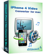 <p> 	4Videosoft iPhone 4 Video Converter for Mac is a professional Mac iPhone 4 Video Converter for Mac users which can convert MPG, MPEG, MPEG2, MTS, M2TS, TS, VOB, MP4, M4V, RM, RMVB, WMV, ASF, etc to iPhone 4 video.</p>