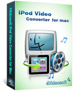 <p> 	4Videosoft iPod Video Converter for Mac makes it reality for you to enjoy all video and audio files on iPod. Mac iPod Converter convert all popular video formats like MPG,   MTS,etc to MP4, H.264/MPEG-4 AVC(.mp4), MOV format for all iPod versions.</p>