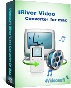 <p> 	4Videosoft iRiver Video Converter for Mac is specially designed Mac iRiver Video Converter. It can convert video to iRiver compatible video/audio formats on Mac OS, like convert video to iRiver WMV, iRiver AVI, iRiver MP4, iRiver H.264/MPEG-4 (.mp4).</p>