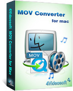 <p> 	4Videosoft MOV Converter for Mac can help you convert MOV, QuickTime HD MOV on Mac, and makes the converted MOV compatible with iPod, iPhone, PSP, PS3, Zune, Creative Zen, iRiver, Wii, Xbox, BlackBerry, etc.</p>