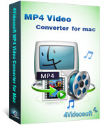 <p> 	4Videosoft MP4 Video Converter for Mac enables you to convert any video formats on Mac OS to MP4 and other video formats, including HD Videos, like HD MP4, HD MOV, HD TS, etc. You can also get any audio formats from video and audio files.</p>