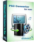 <p> 	4Videosoft PS3 Converter for Mac is specially designed Mac PS3 Converter for Mac users. It owns the solution to convert all media videos to PS3 compatible video/audio formats, like H.264 (.mp4), H.264 HD (.mp4), DivX HD (.avi), MPG, HD MPG,HD WMV.</p>