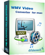 <p> 	4Videosoft WMV Video Converter for Mac is featured Mac WMV Video Converter for Mac user to convert video to WMV, get MP3, WMA audio for your BlackBerry, Gphone, Zune, iRiver, PSP, PS3, Xbox, etc.</p>
