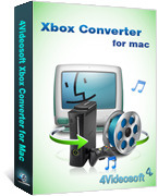 <p> 	4Videosoft Xbox Converter for Mac is professional Mac Xbox Converter for Mac users., which can convert all popular videos like AVI, MPEG, WMV,MP4, RM, RMVB, DivX, 3GP to Xbox/Xbox 360 video, along with convert those video to MP3, WAV, WMA audio.</p>