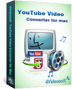 <p> 	4Videosoft YouTube Video Converter for Mac makes convert all popular videos to YouTube FLV/SWF for sharing your videos with your web friends.Using this Mac YouTube Video Converter, you get great sound and image quality as clear as original file.</p>