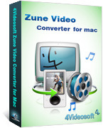 <p>4Videosoft Zune videokonverter für Mac wurde speziell für Zune Mac-Benutzer. Für diese Mac Zune Video Converter kann fast alle video (inklusive HD-Video) Audio zu Zune MP4, WMV, AAC, MP3, WMA, M4A, etc. konvertieren.</p>