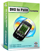 <p> 	4Videosoft DVD to Palm Converter is an easy-to-use DVD Converter to Palm.</p>