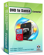 <p> 	4Videosoft DVD to Sansa Converter can convert your DVD movie to Sansa MP4, etc.</p>