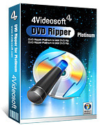 <p> 	4Videosoft DVD Ripper Platinum can rip DVD to AVI, MP4, MPEG, MOV, 3GP, HD video, MP3 etc with super fastest speed.</p>