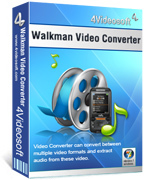 <p> 	4Videosoft Walkman Video Converter is the professional Sony Walkman Converter designed to convert all video to MP4, MP4 AVC(.mp4)video and MP3, M4A, WAV, WMA audio for all the Sony Walkman players like Sony Ericsson Walkman phone, Walkman Bean, etc.</p>