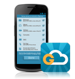 <p> 	G Cloud intelligently, automatically and effortlessly protects and backs up all your android's phone or tablet data to a secure cloud location. So you will never again have to worry about losing your phone or tablet</p>